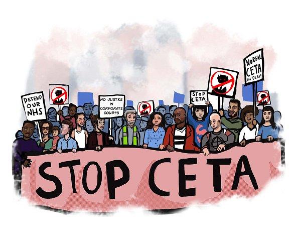 Parce que le #CETA a des effets sur l'agriculture/la santé/le climat/l'environnement/les services publics/l'emploi/la démocratie je suis concerné.e et j'exige un référendum ->  https://www. collectifstoptafta.org/ceta/europarl/     #ReferendumCETA #StopCETApic.twitter.com/EyjvMMps8Z