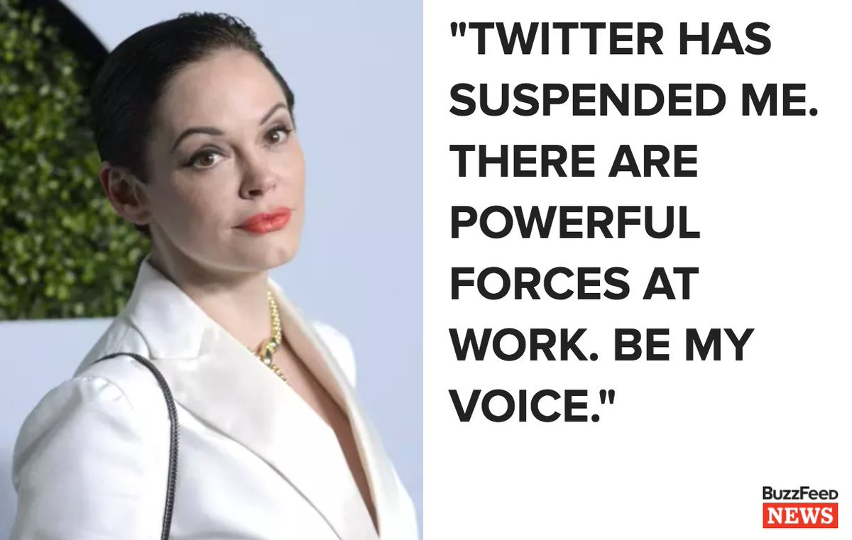 Rose McGowan says Twitter suspended her account after she spoke out about the treatment of women in Hollywood https://t.co/1OraIrHMhk
