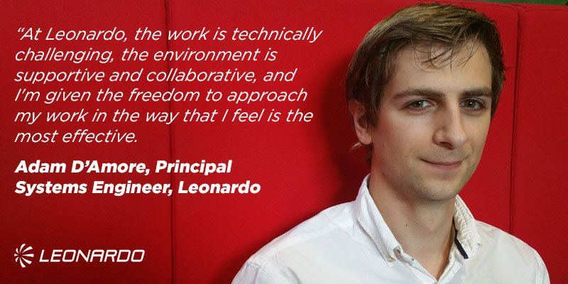 Challenging the established way of doing things - Learn why Adam enjoys working as part of our #EW #engineering team  http://www. uk.leonardocompany.com/people-careers /vacancies/careers-in-ew &nbsp; … <br>http://pic.twitter.com/sWfDWXEKeP