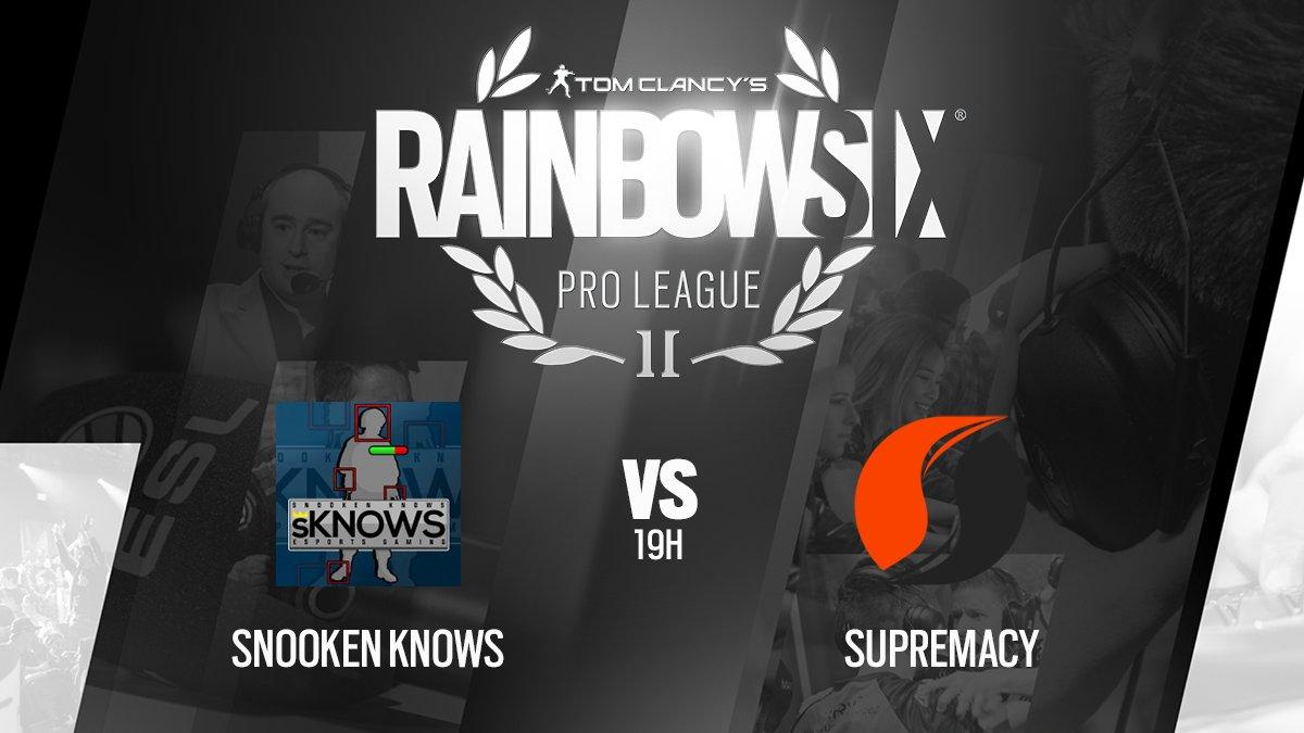 Le premier match de la soirée commence dans 10 min ! Tenez-vous prêts pour snoOken Knows vs @Supremacy_FR ! #R6PL   http://www. twitch.tv/ubisoftfr    pic.twitter.com/NlQRZSovbs