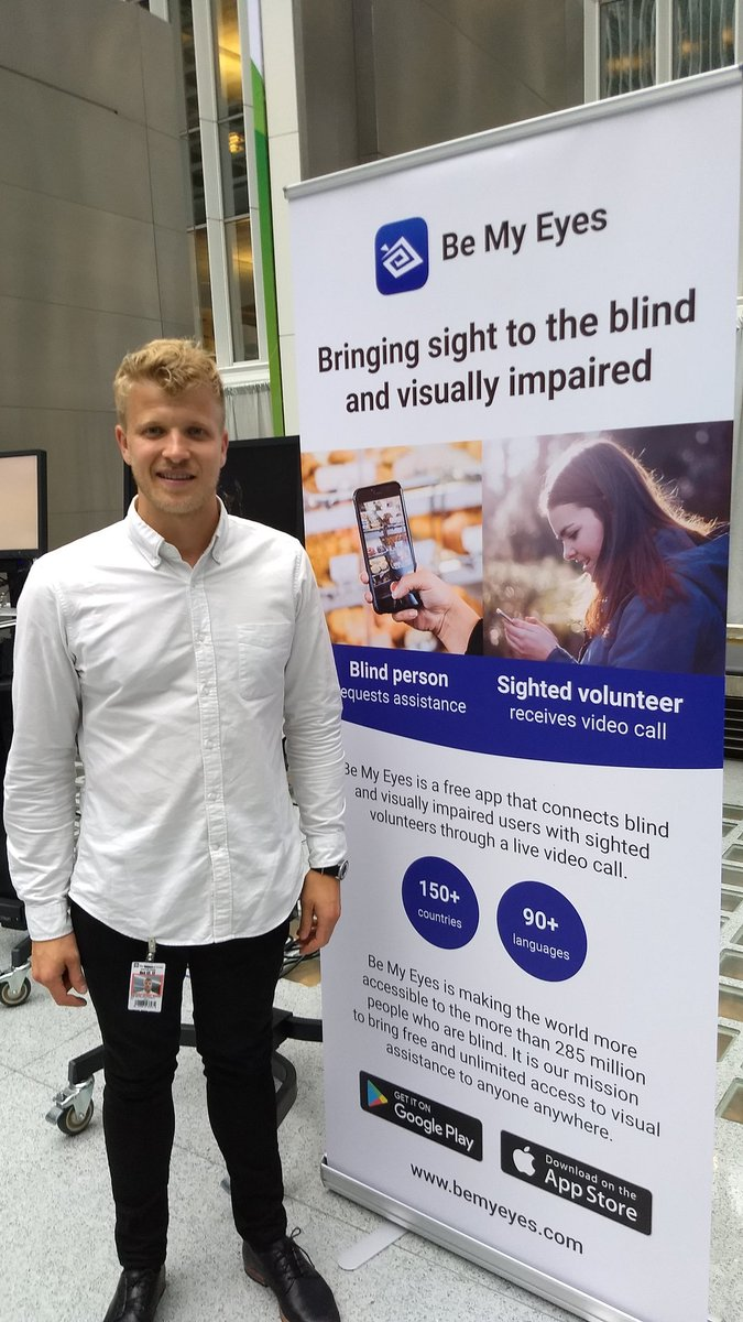 .@BeMyEyes matches ppl who are visually impaired to those w/ good sight. #tech for social good #digitaldev #EndPoverty #endpovertymosaic<br>http://pic.twitter.com/AFLkYLfor4