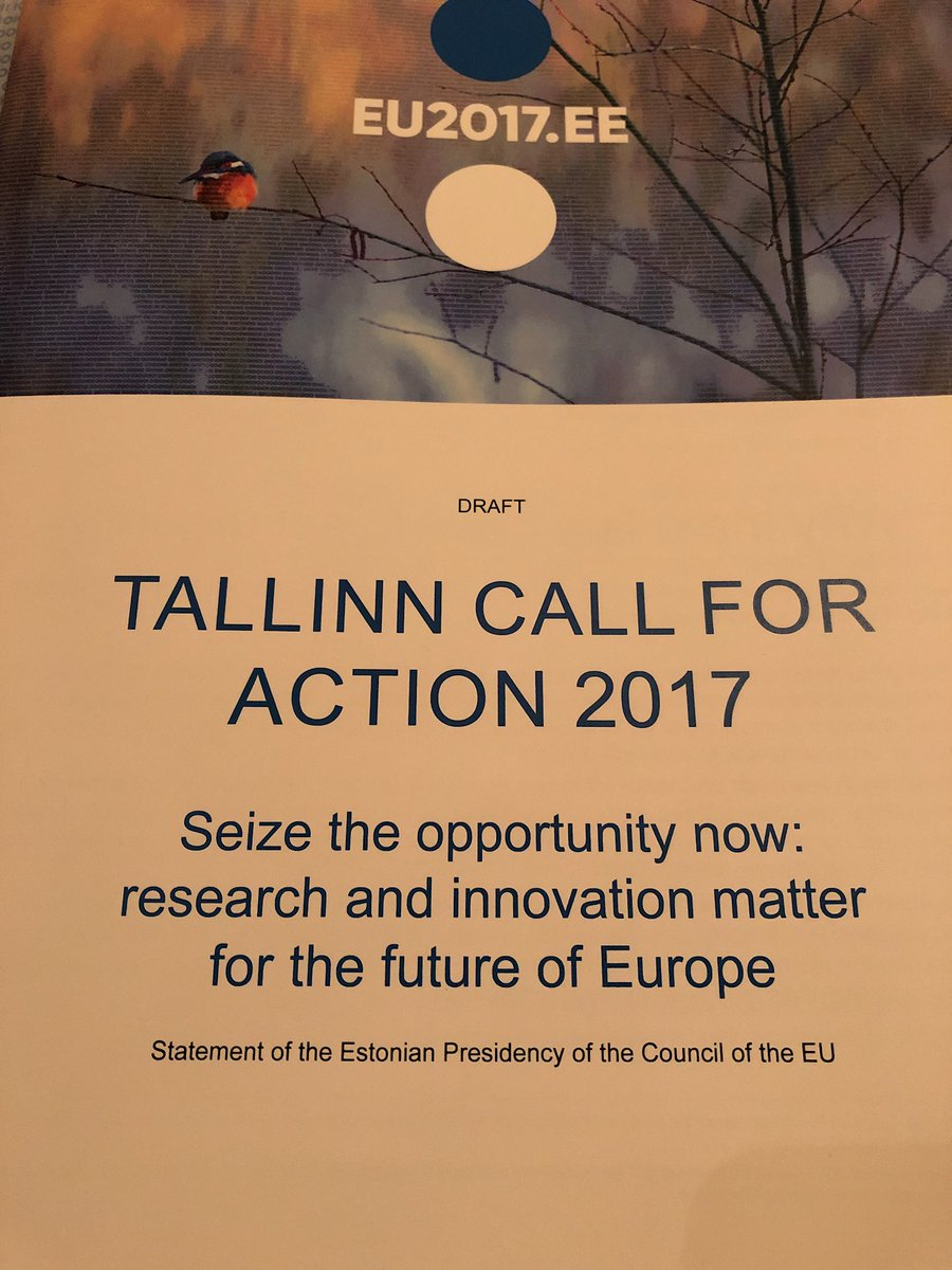 Strong call to strengthen role of research in policy making.#TallinnCall4Action #Research4FutureEU<br>http://pic.twitter.com/ZP25Rw6Xqk