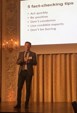 5 fact-checking tips by @PCollignon | Goes both for communicators, journalists and all other citizens. #criscom17 <br>http://pic.twitter.com/8VPuhHxXdz