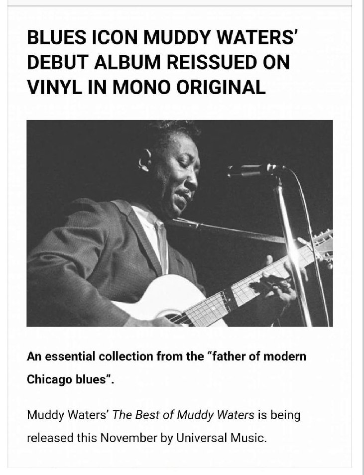 Muddy at it again . #father of the blues #blues legend#blues icon.<br>http://pic.twitter.com/uNQfZmmcjM