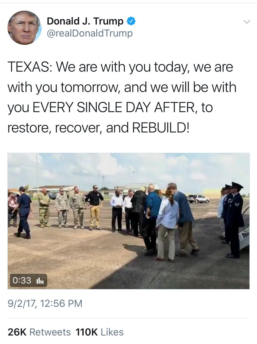 Just so you can see them side-by-side, here is Trump on Texas vs PR. Wonder what the difference is. Hmmm…