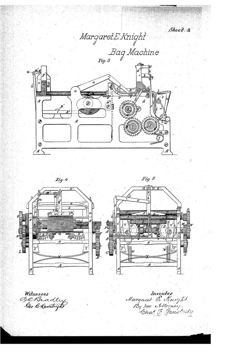 Margaret Knight Paper Bag Machine