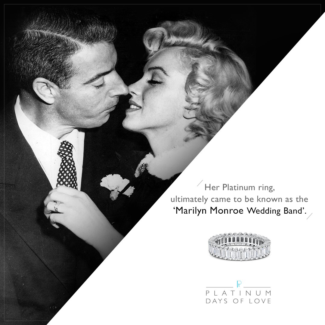 Platinum Jewellery on Twitter When Joe DiMaggio married