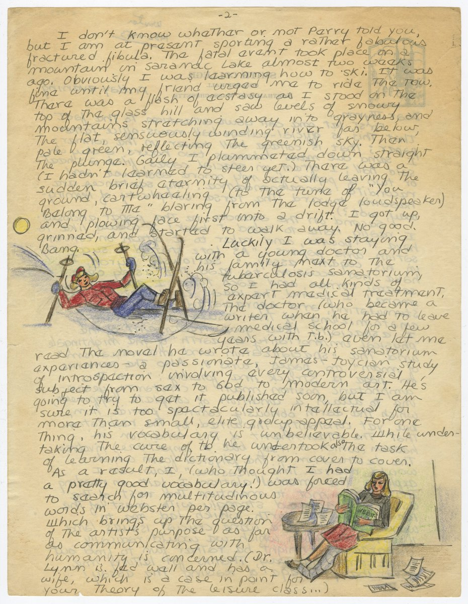 A letter, with illustrations, from Sylvia Plath to Myron Lotz, January...