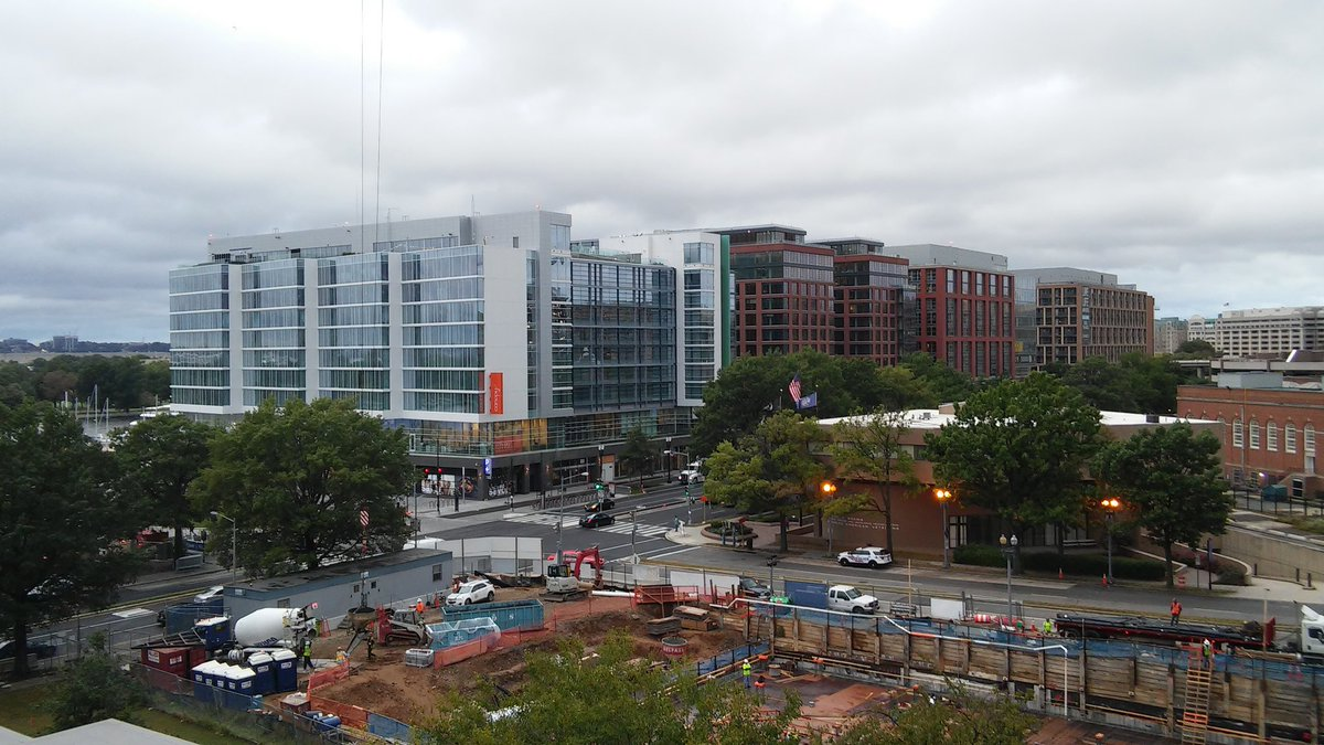 #WharfDC How Wharf looks from my apt balcony. Even though it took away my water view...welcome to the neighborhood! <br>http://pic.twitter.com/9Fw0iTz0nn