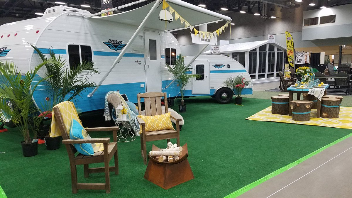 #ThrowbackThursday To The #Glamping Feature At The #DesMoines Home +  Outdoor Living Show!pic.twitter.com/74d6huA9sB