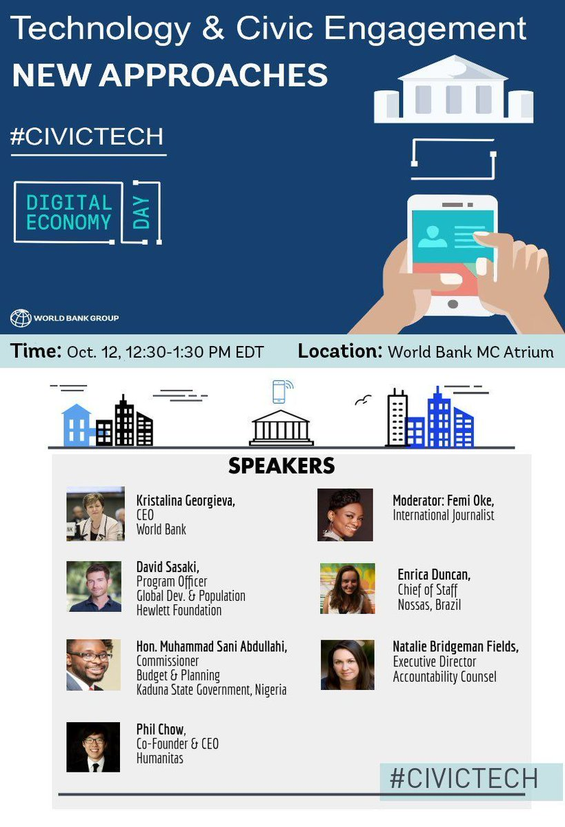 So many #DigitalDev events to choose from @WorldBank today, but only one has THE BEST #civictech line-up.  #DontTellJimKimITweetedThis<br>http://pic.twitter.com/QGkHWKFkEO