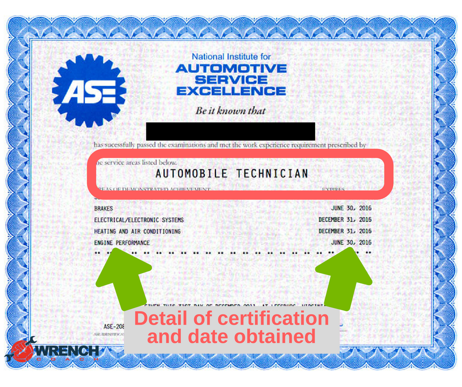 Wrenchcoach On Twitter Blog What Is An Ase Certification By
