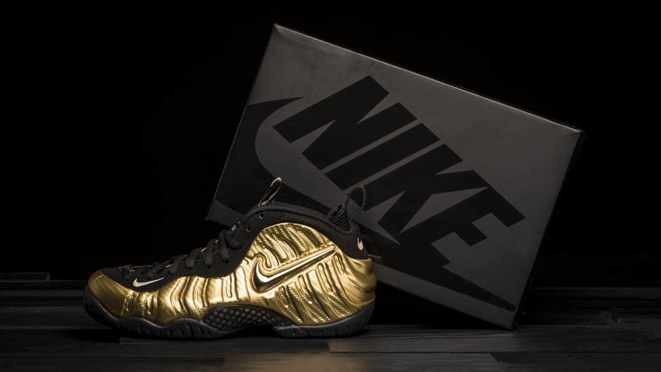 1d37a14d4c1  Metallic Gold  Takes Over The  Nike Air Foamposite Pro. Grab A Pair Next  Thursday. http   finl.co 2G4 pic.twitter.com CIwJwjqjHe