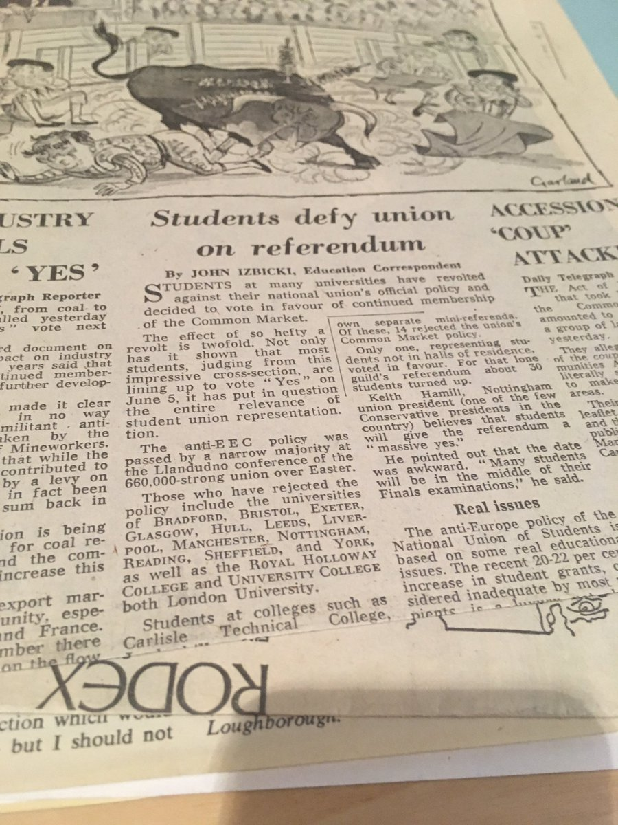 EU archives: In the 1975 referendum, @nusuk favoured leaving EEC but Sheffield, Manchester, UCL students wanted to remain #UACES50 <br>http://pic.twitter.com/IWRLLhFRn9