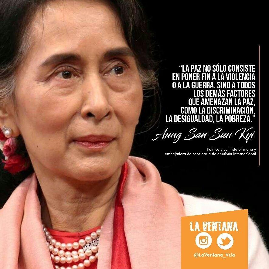 La Ventana En Twitter La Frase Del Día Pertenece A Aung