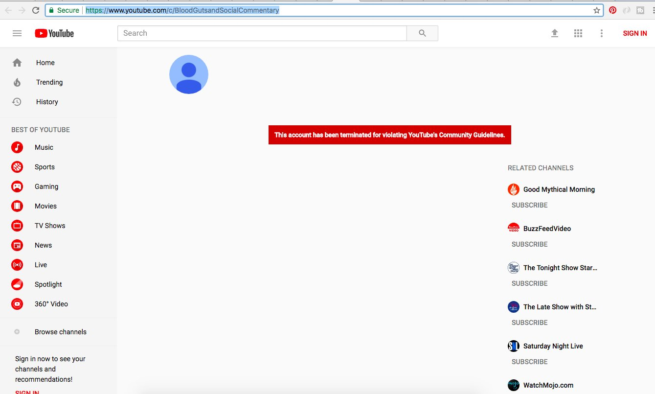 YouTube Takes Down A Content Creator's Channel ...