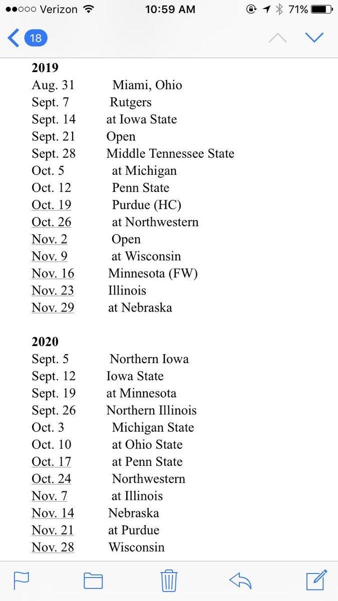 Penn State 2020 Football Schedule.Jeremiah Davis On Twitter Hawkeyes Announce Unifootball