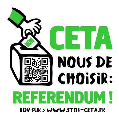 La majorité des eurodéputé·e·s français·es ont voté contre le traité commercial Canada-UE #CETA. Nous demandons donc un #ReferendumCETA. pic.twitter.com/UiMPfStwDD