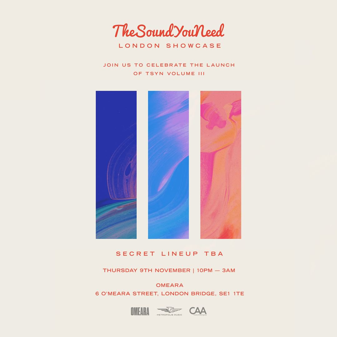 We're back in London next month, celebrating the launch of TheSoundYouNeed Volume III 🙌🏼   Event: https://t.co/xo2ZVzmPLY https://t.co/PJi0W06S5B