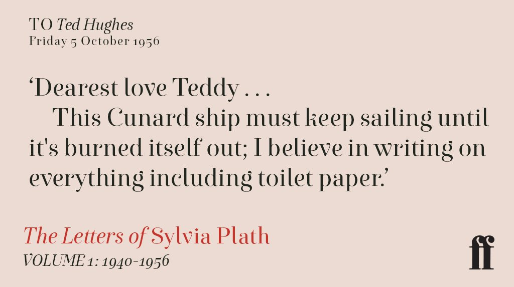 Sylvia Plath to Ted Hughes, October 1956 https://t.co/a9VoIsd6Kx
