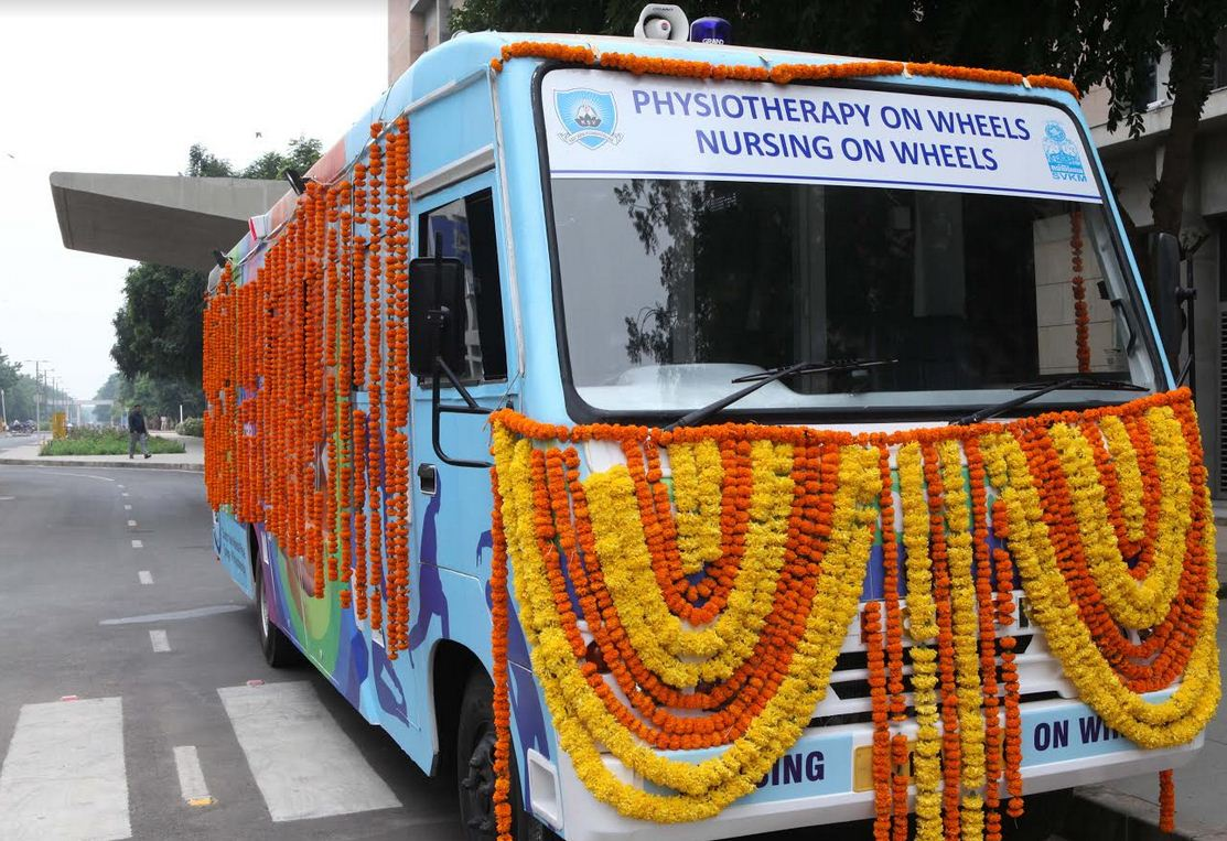 First physiotherapy and nursing on wheels van launched in Gandhinagar