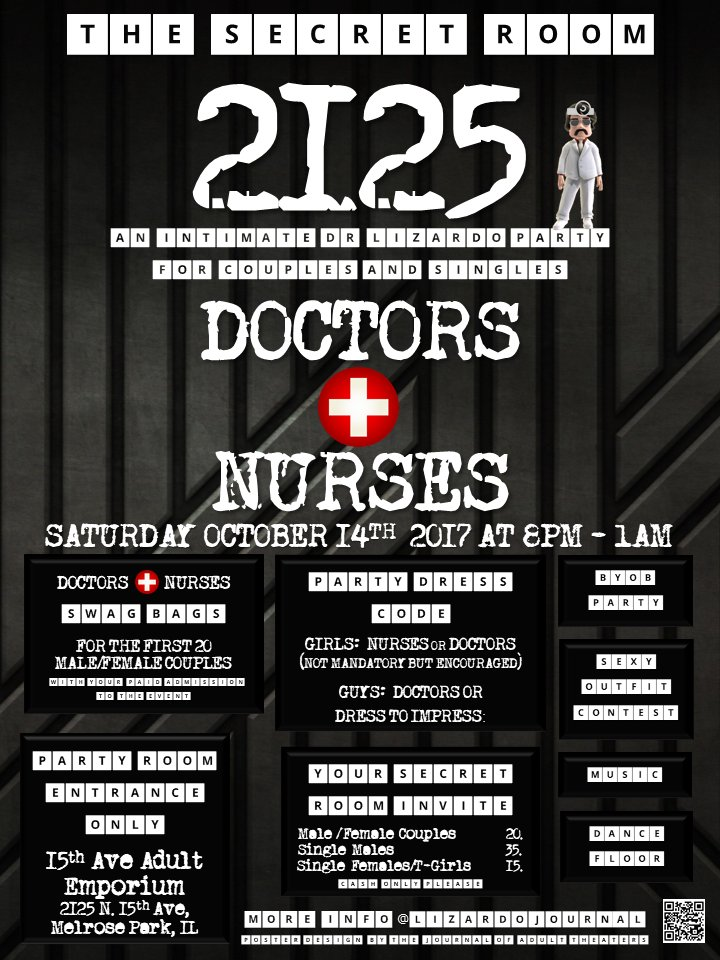 In 2 Days Step Deep Inside The Secret Room 2125 Doctors Nurses Party At 15thaveadult In Chicago Naughty Nurses Byob Swag Morepic Twitter Com