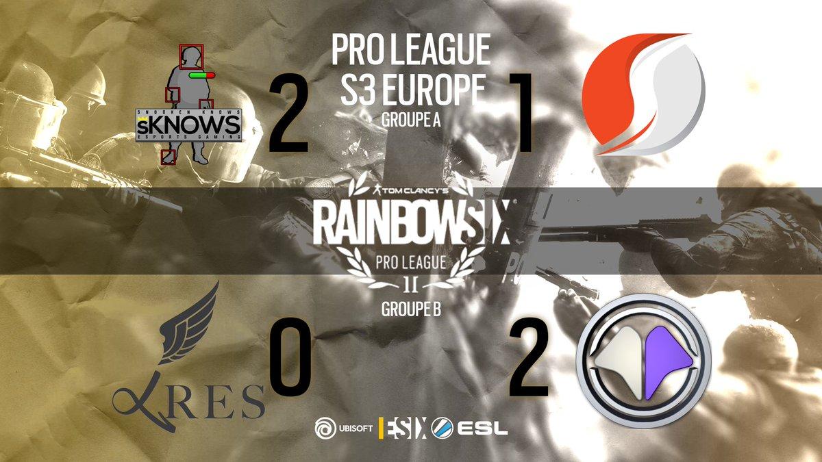 #R6PL - Le résumé des résultats de cette soirée de Pro League Europe ! pic.twitter.com/oOskgJyoY7