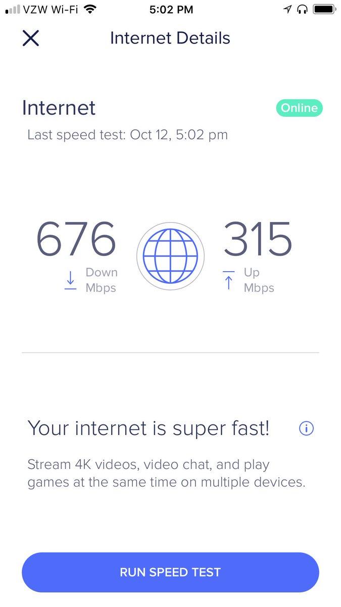 spectrum wifi speed test