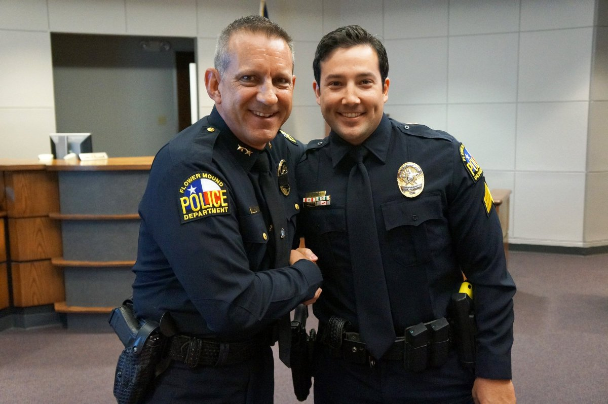 """Flower Mound PD on Twitter: """"Congrats to the newly promoted Sergeant James Pulis! Sergeant Pulis has been with FMPD since 2011. Thank you for serving Flower ..."""