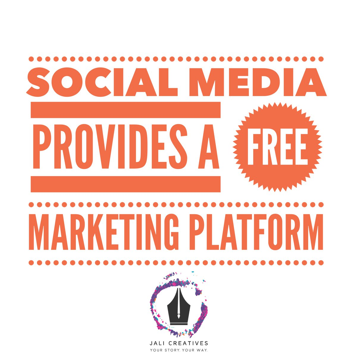 Take advantage of social media being free. Use your budget for a content manager instead! #JaliCreatives #YourStoryYourWay #SocialMarketing <br>http://pic.twitter.com/zykPfszgbw