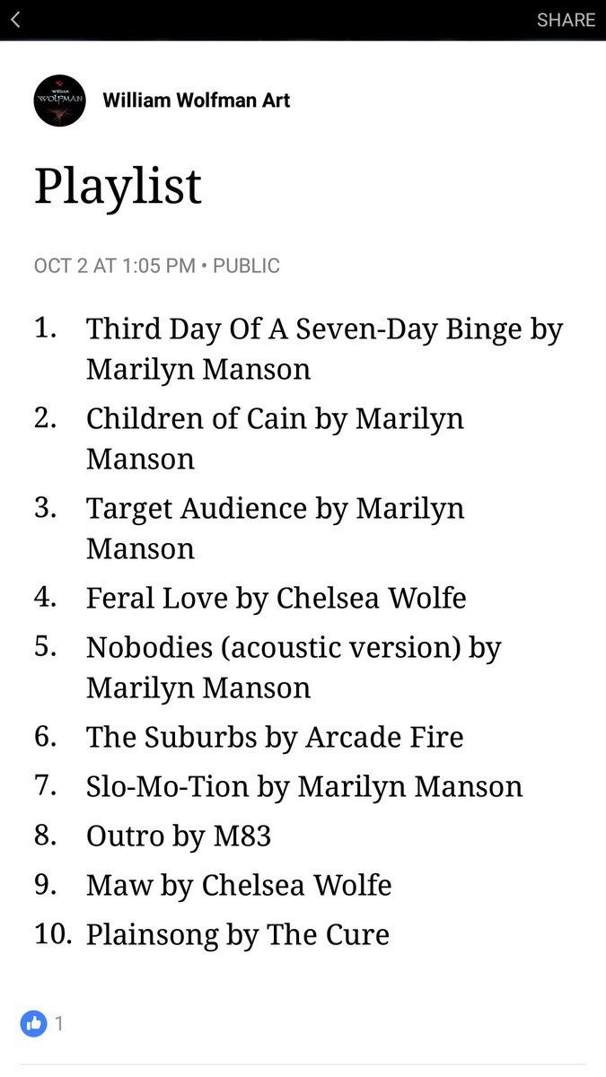 My favorite playlist as of right now, but that could always change soon. A lot of Manson songs...  #playlist #current #favorites<br>http://pic.twitter.com/dlAoDSLTpy