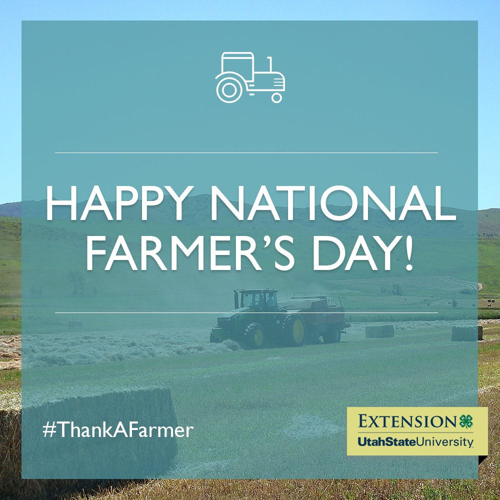 Happy National Farmer's Day! Be sure to set aside some time today to #ThankAFarmer. 🚜