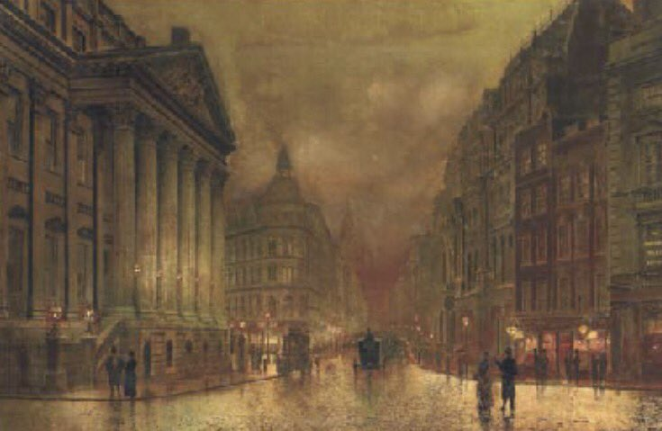 The Mansion House, #London, John Atkinson #Grimshaw, 1880s #Victorian #romantic #artist #cityscape #arte #city #night #Artlovers #twitart<br>http://pic.twitter.com/F83ldzmMkD