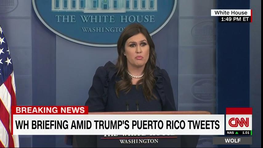 Happening now: White House @PressSec Sarah Sanders holds a press briefing. Watch on CNN: https://t.co/UYpqI3esEb https://t.co/KR8N7nakCE