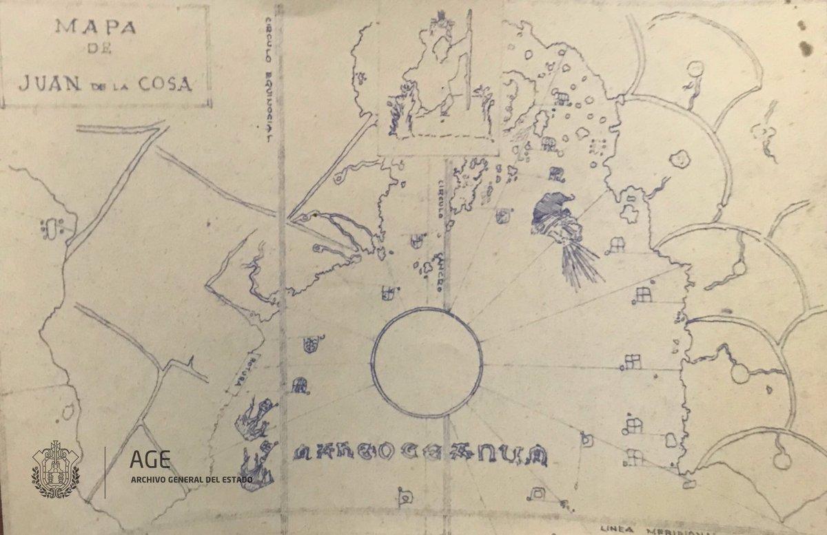 Uno de los primeros mapas del nuevo mund...