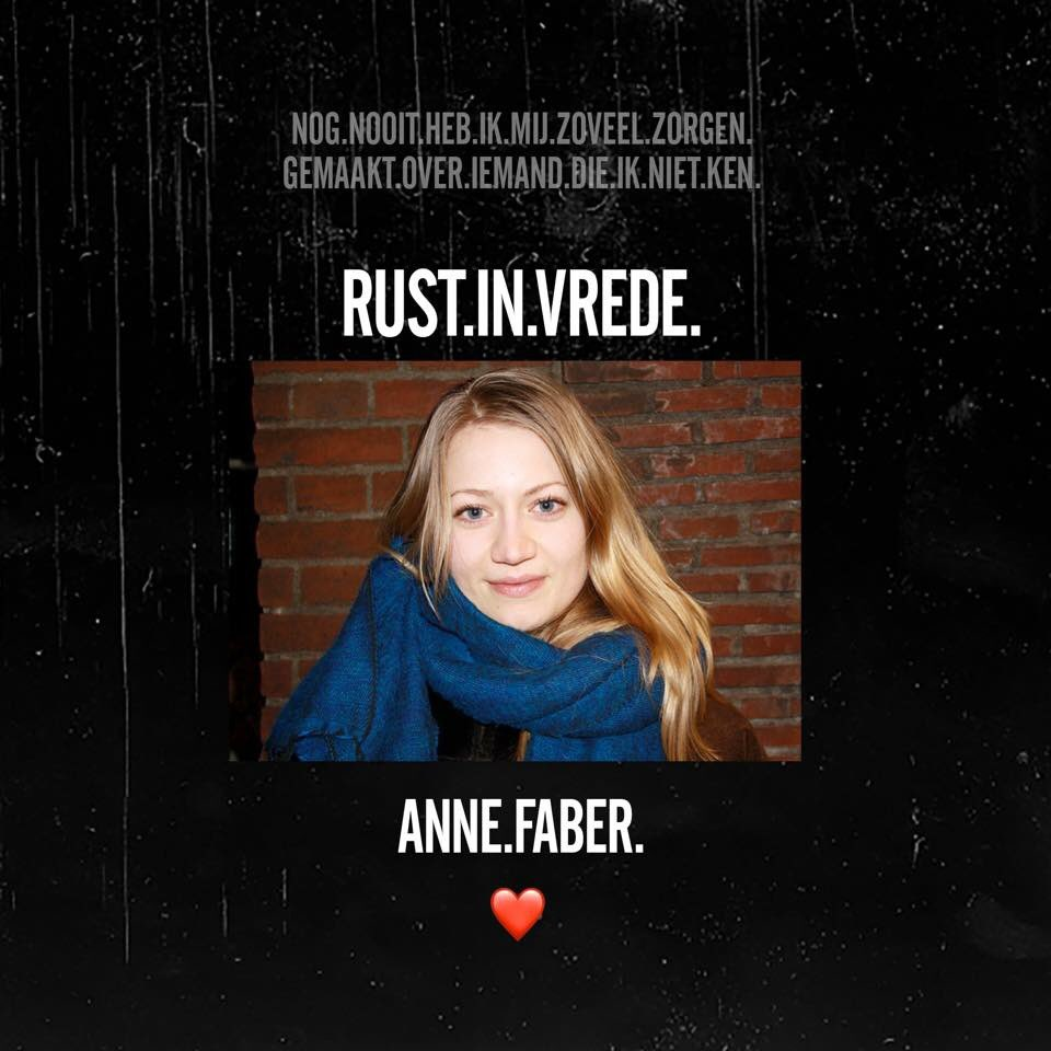 They found you But you are lost forever. May you rest in peace #AnneFaber <br>http://pic.twitter.com/ODZxJQGJm5