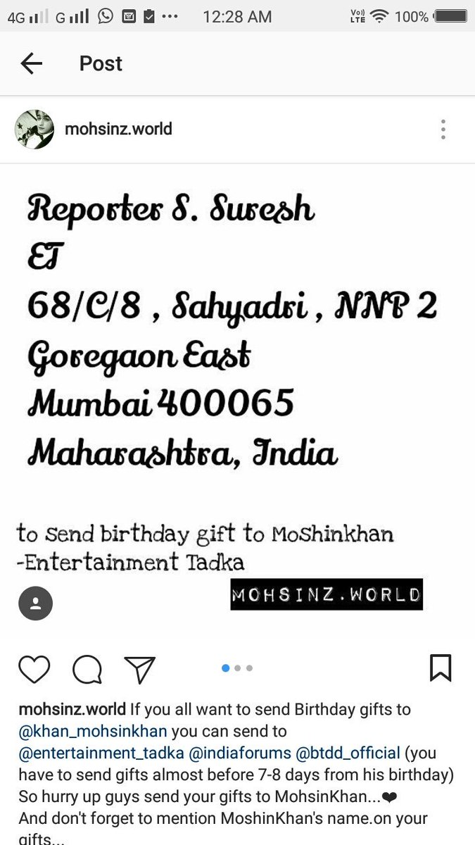 Addresses For Sending Gifts To Mohsin His Birthday IshaSum2 RidaSyed5 SoniaSonikhan8 Momo Kaira Deewani Abresh Musaffapictwitter