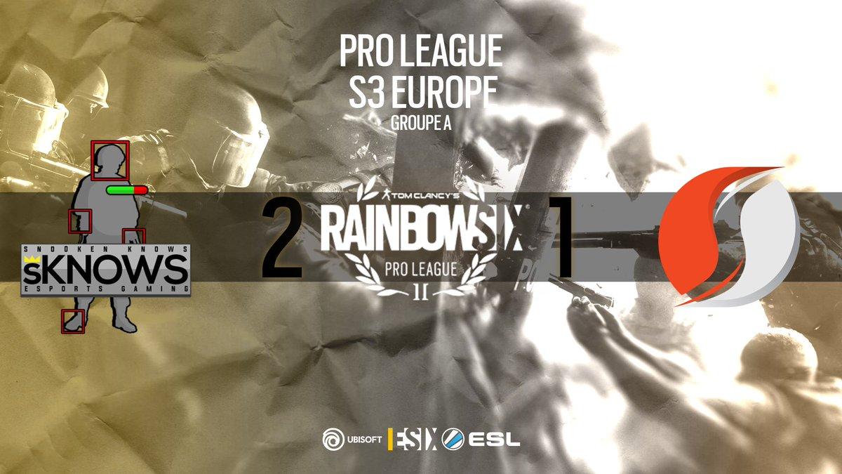 #R6PL - @Supremacy_FR s'incline face à Snooken Knows aux portes des playoffs online de la région Europepic.twitter.com/coDnVuQgAB
