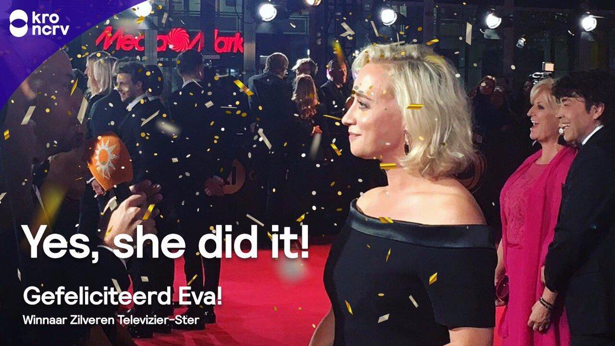 Jaaaaa! Eva is de winnaar van de Zilveren Televizier-Ster! #televizier...