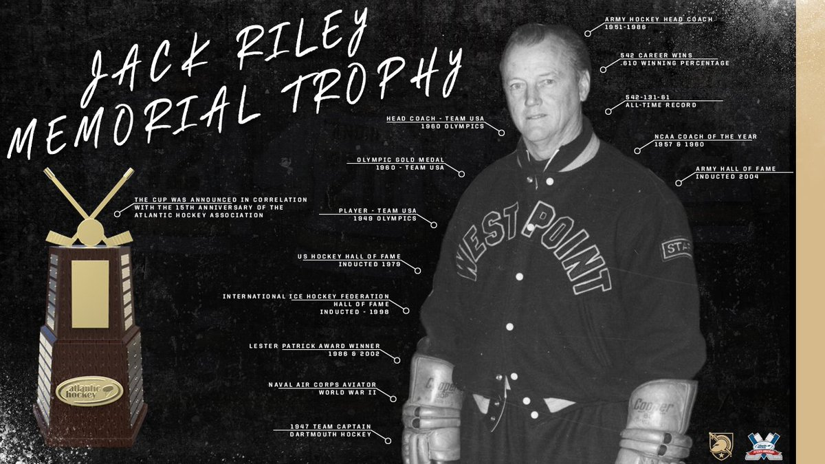 What an honor for one of West Point&#39;s legendary icons #JACK! #AHF @GoArmy     http:// atlantichockeyonline.com/news/2017/10/1 2/mens-ice-hockey-new-atlantic-hockey-tournament-championship-trophy-named-for-jack-riley.aspx &nbsp; …  …<br>http://pic.twitter.com/4zO0FLMEkx