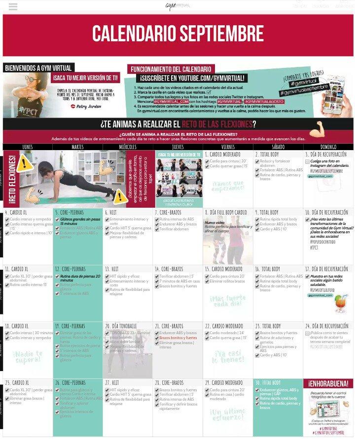 Calendario Septiembre Gymvirtual.Alexandra Sabogal On Twitter Gymvirtual