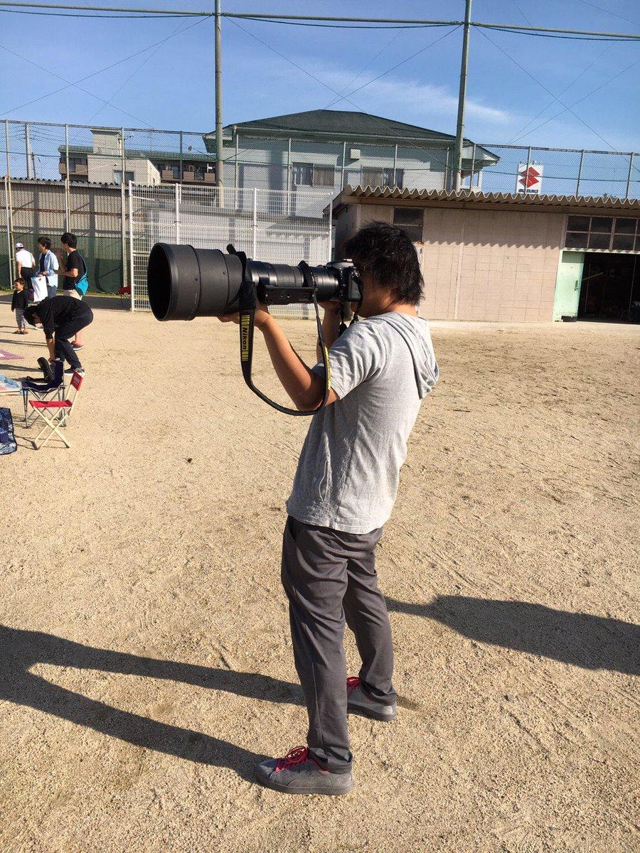娘への愛はカメラの大きさに比例する?運動会にすごいカメラを持ち込むお父さんwww