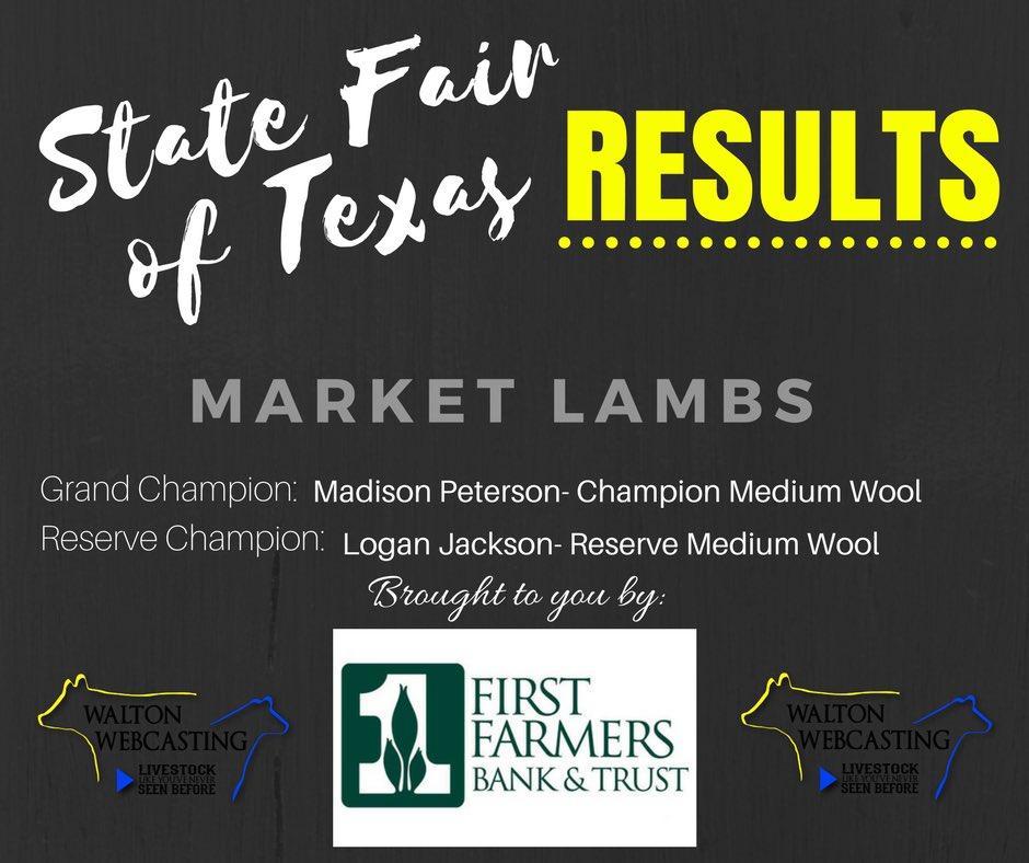 Walton webcasting waltonwebcast s twitter profile twicopy state fair of texas market lamb results junglespirit Choice Image