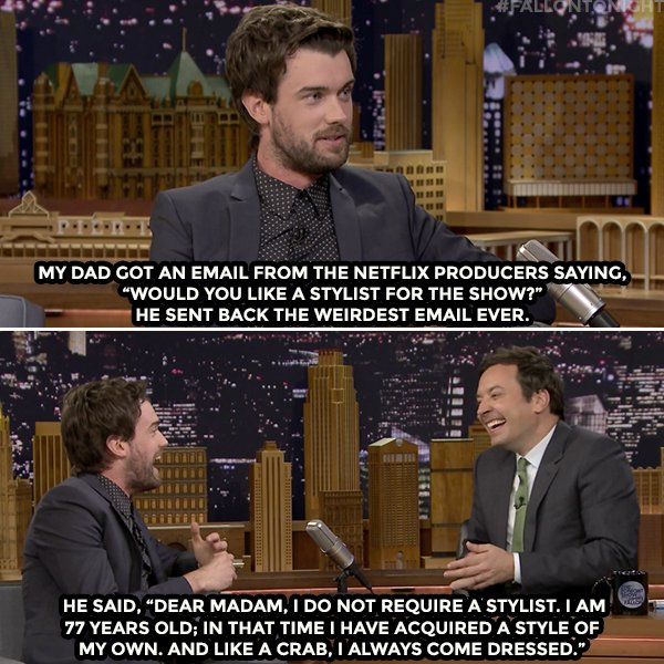 RT @FallonTonight: .@jackwhitehall's dad doesn't need style tips https://t.co/PluZKbYzQ2 https://t.co/wZbJRNS68g