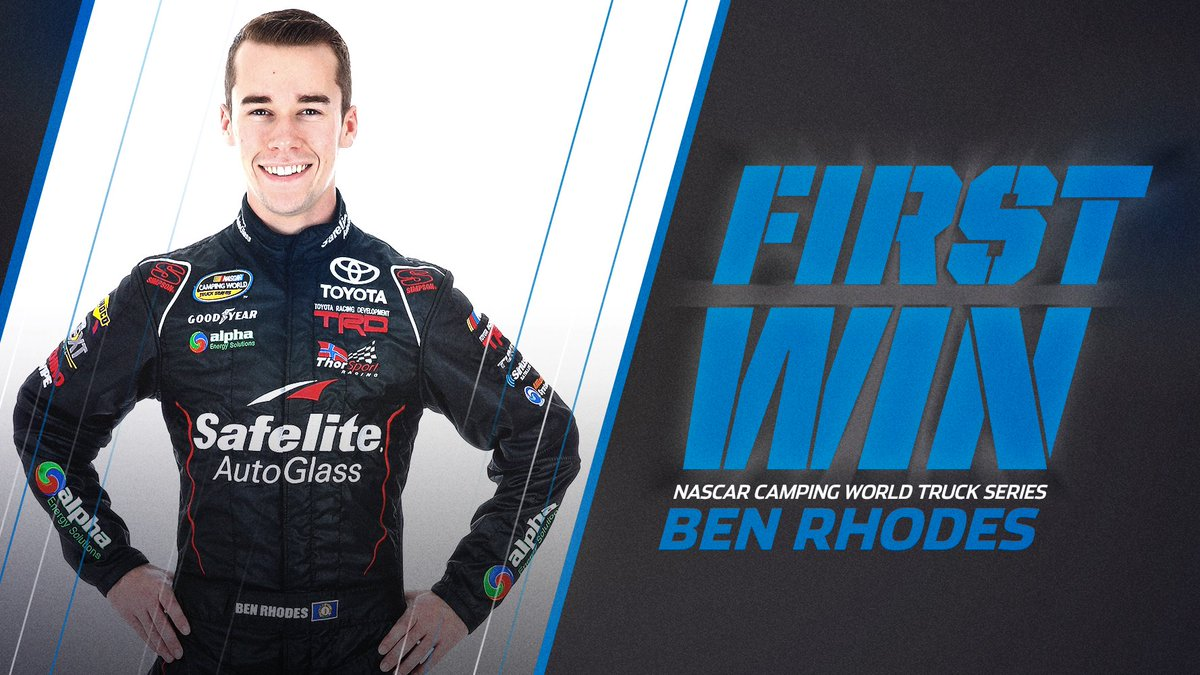 Retweet to congratulate @BenRhodes on his first career win! #NASCARPlayoffs https://t.co/9ovseFJMCn