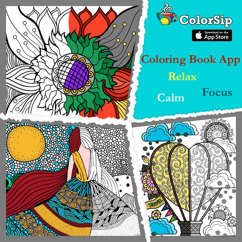 Appkruti Solutions L On Twitter ColorSip Coloring Book For