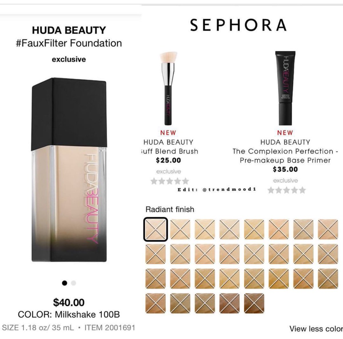 Trendmood On Twitter It S Almost Time Hudabeauty All New 1 The Fauxfilter Foundation 30 Different Shades Love The Names Https T Co Z0t0xdndui