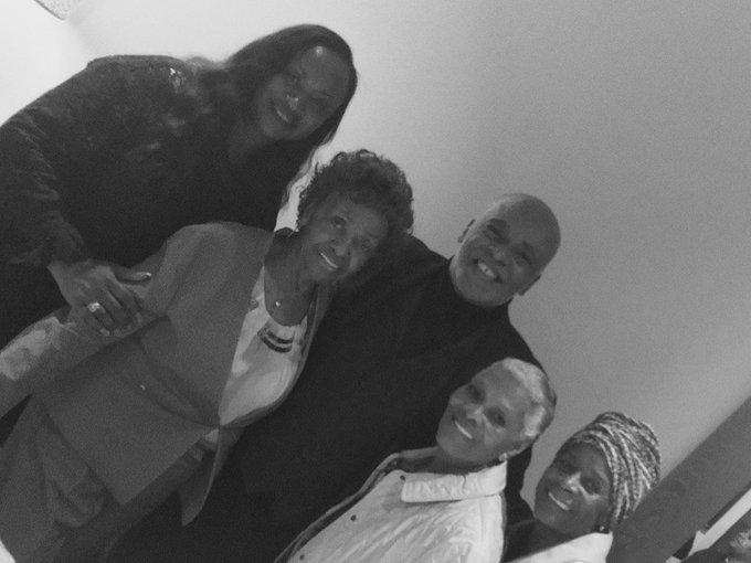Happy Birthday Cissy Houston! In photo: Pat, Cissy, Me, DIONNE, Dianne
