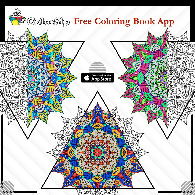 ColorSip Adult Coloring Book App Free Download Now Itunesapple Colorsip Calm Relax Focus For Adults Id1200364907mt8