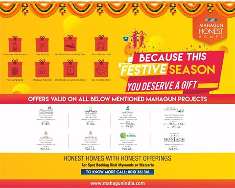 @mahagungroup makes this festive season bigger and better with its exclusive offers on its #HonestHomes. #HappyNavratri #Offers #Discounts<br>http://pic.twitter.com/B53h1HxqI2
